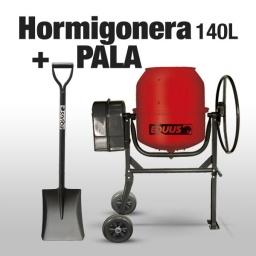 Hormigonera Portátil 140L con Volante Protector Plastico