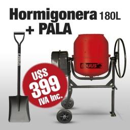 Hormigonera Portátil 180L con Volante