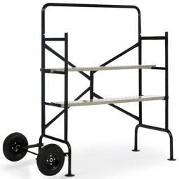 Mini Andamio con ruedas 2 plataformas Bandeja rebatible