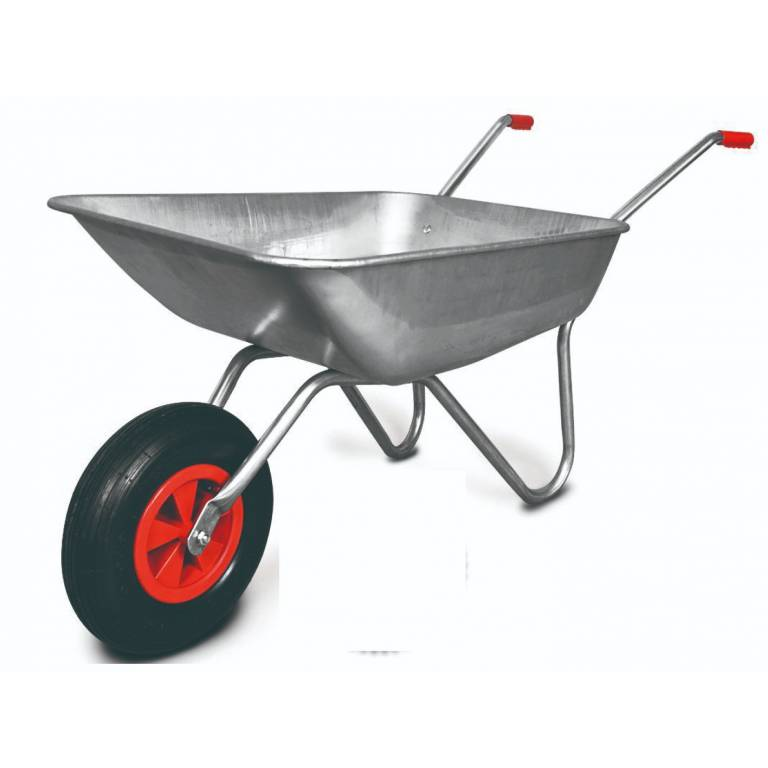 Carretilla tolva metalica galvanizada rueda neumática