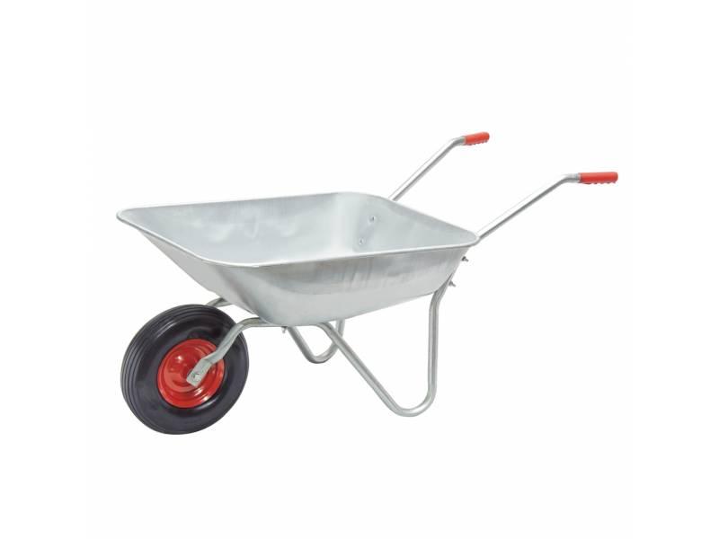 Carretilla tolva metalica galvanizada rueda maciza