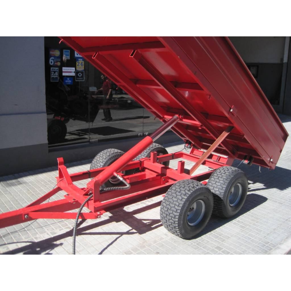 Trailer rojo 2000kg agricola volcador Uruguay